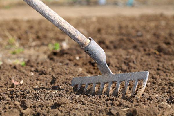 почва огород грабли