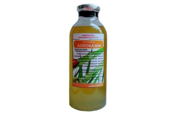 Настойка из растения используется при лечении онкологии