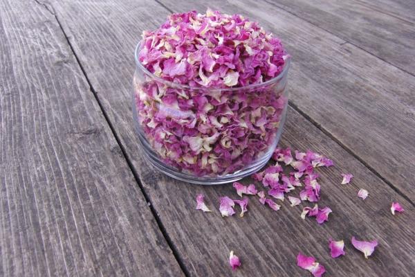 Из цветков шиповника аптекари готовят препарат Холосас и витаминные сиропы