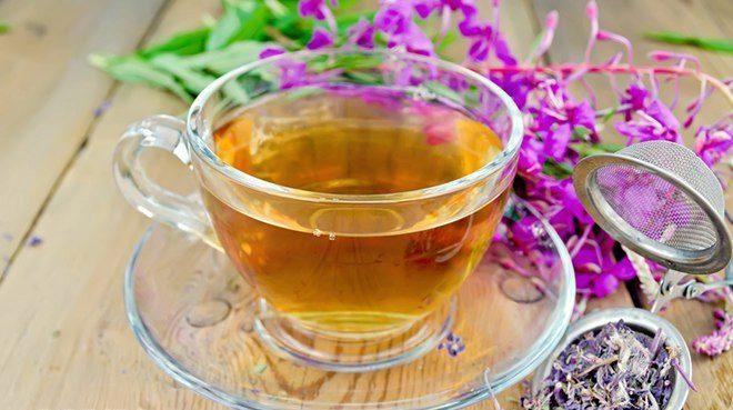 Заваренные цветки иван-чая