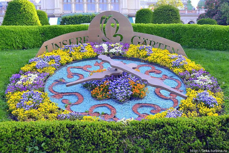 Вариант цветочных часов в Европе